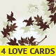 4 Love Flowers Cards