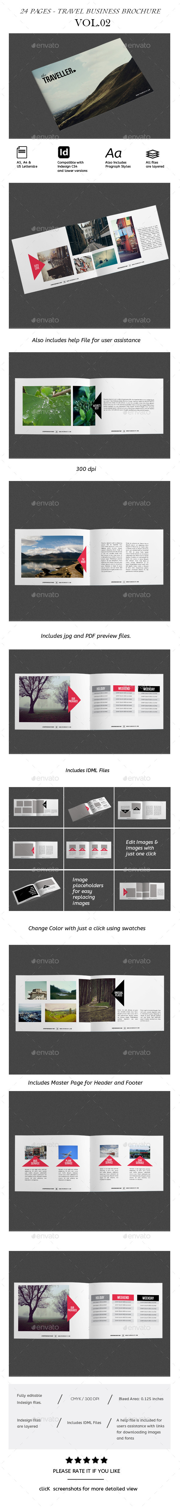 GraphicRiver Travel Brochure Vol.02 Portfolio Business 8813431