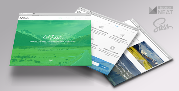Neat - One Page HTML5 with Sass & Bourbon Neat - Landing Pages Marketing