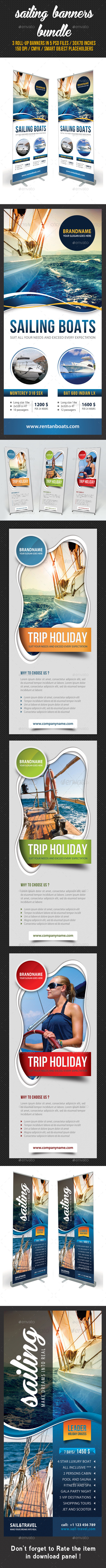 GraphicRiver 3 in 1 Sailing Yacht Banner Bundle 01 8816780