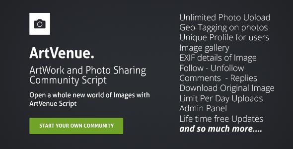 ArtVenue : Community Script - CodeCanyon Item for Sale