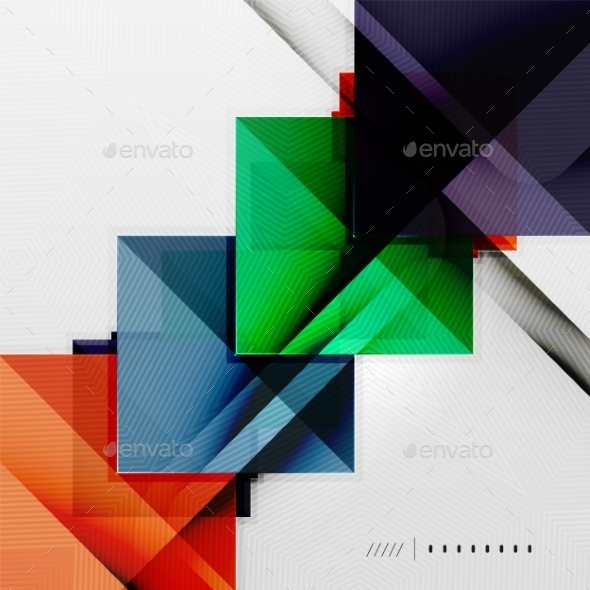 GraphicRiver Geometric Squares Background 8816879