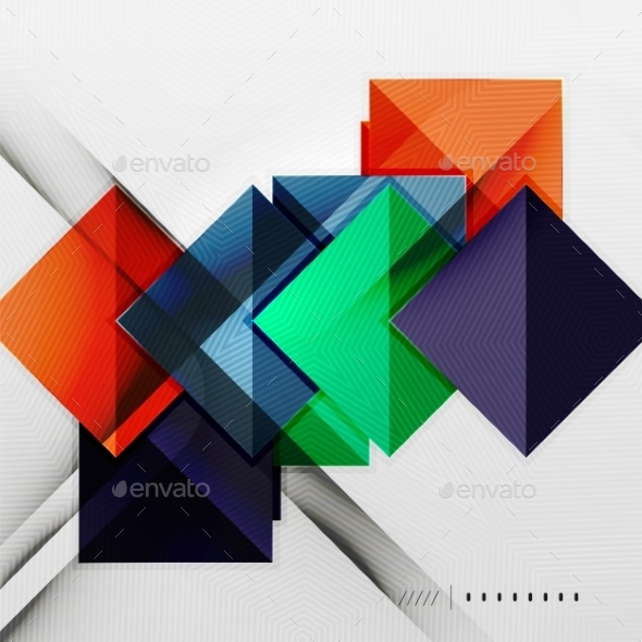 GraphicRiver Geometric Squares Background 8816881