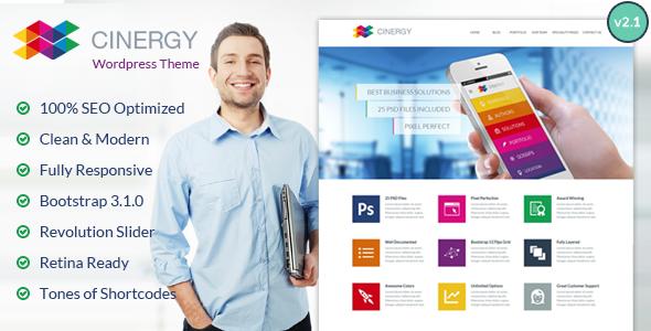 Cinergy - Modern Business Wordpress Theme - Business Corporate