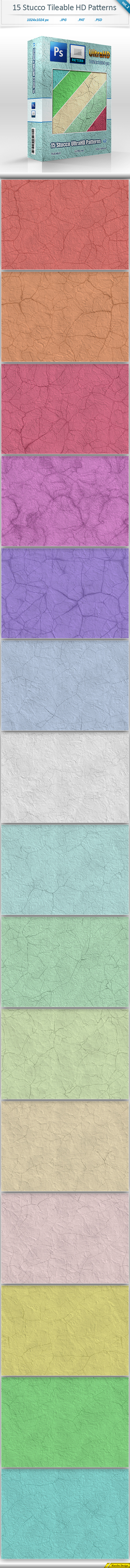 Stucco Tileable Patterns vol 2
