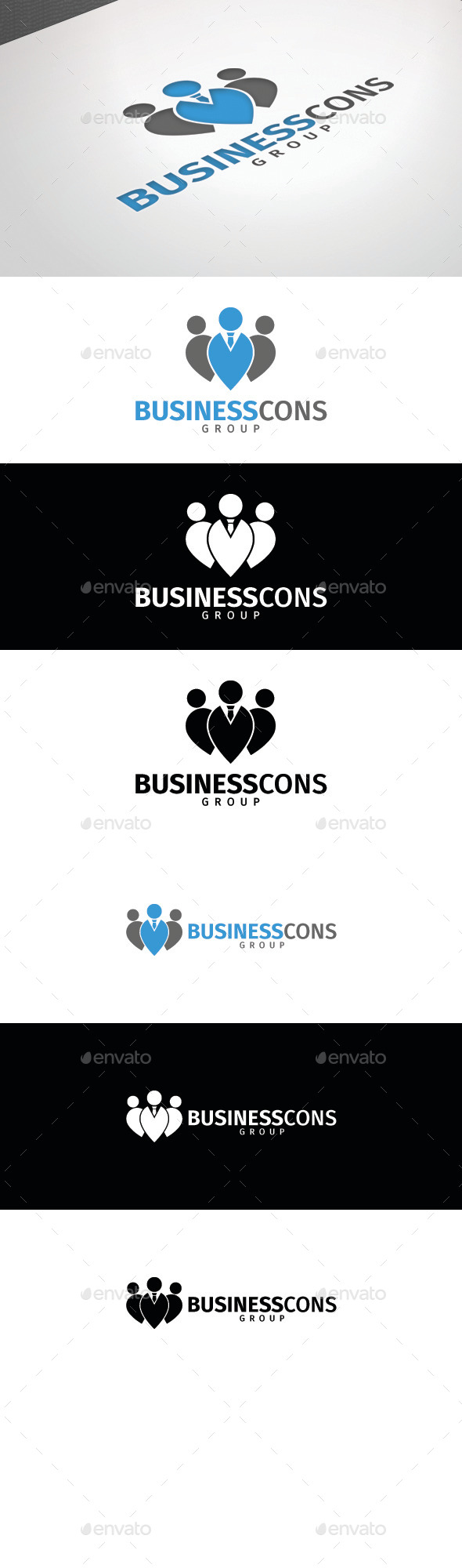 GraphicRiver Business Cons Group Logo Template 8808173