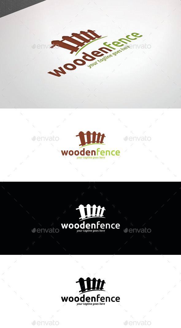 GraphicRiver Wooden Fence Logo Template 8808168