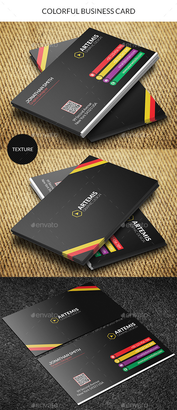GraphicRiver Colorful Business Card 8815297