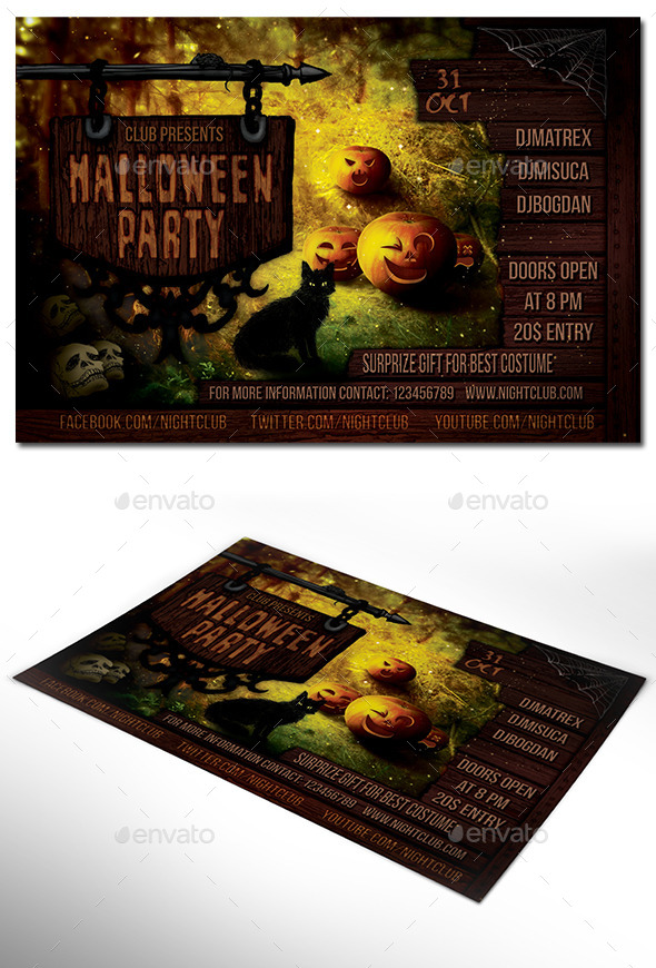 GraphicRiver Halloween Party Flyer 8817499