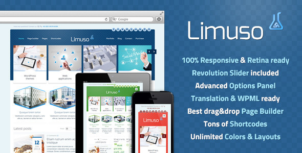 Limuso Premium WordPress Theme - Business Corporate