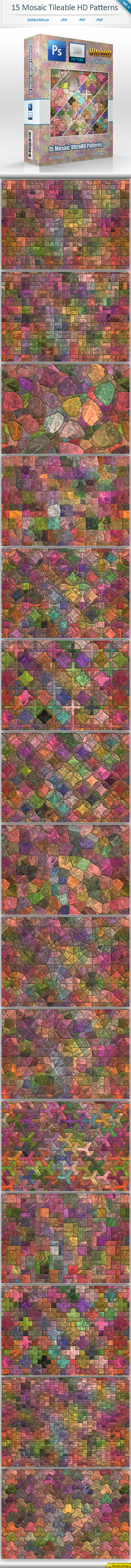 Mosaic Tileable Patterns vol 1