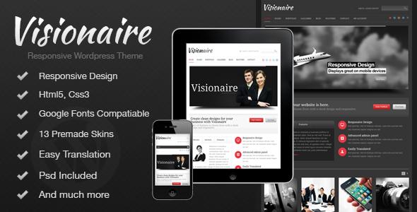 Visionaire - Responsive Business Wordpress Theme - Business Corporate