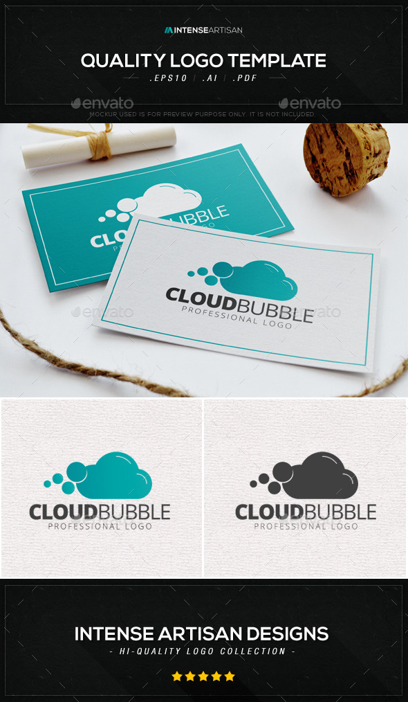 GraphicRiver Cloud Bubble Logo Template 8817727