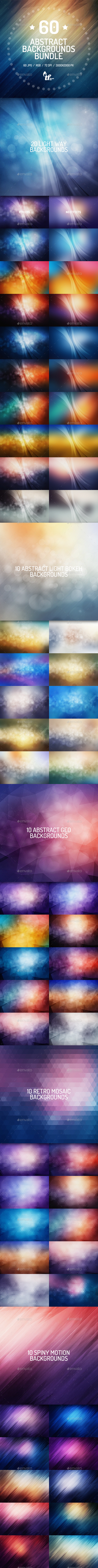 GraphicRiver 60 Abstract Backgrounds Bundle 8817733