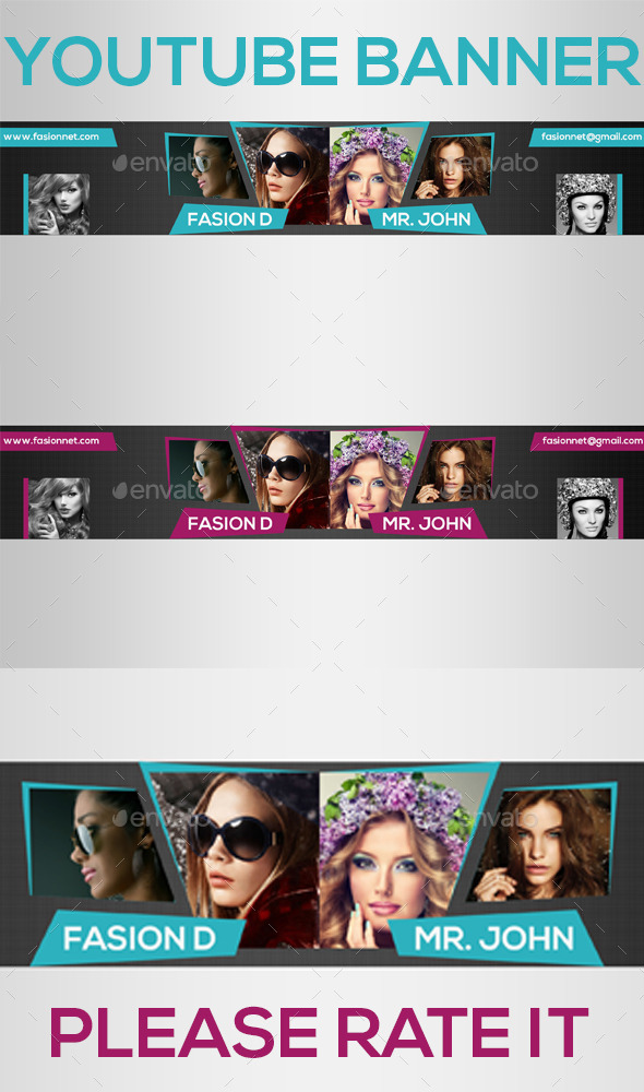 GraphicRiver Elegant Youtube Banners 8817739