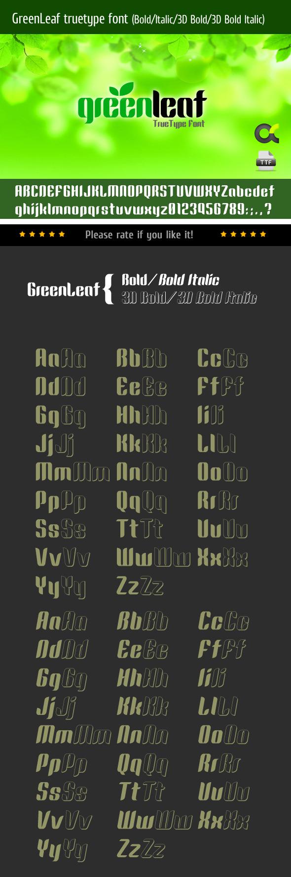 GreenLeaf TrueType Font - Sans-Serif Fonts