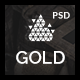 Gold | Creative PSD Template - ThemeForest Item for Sale