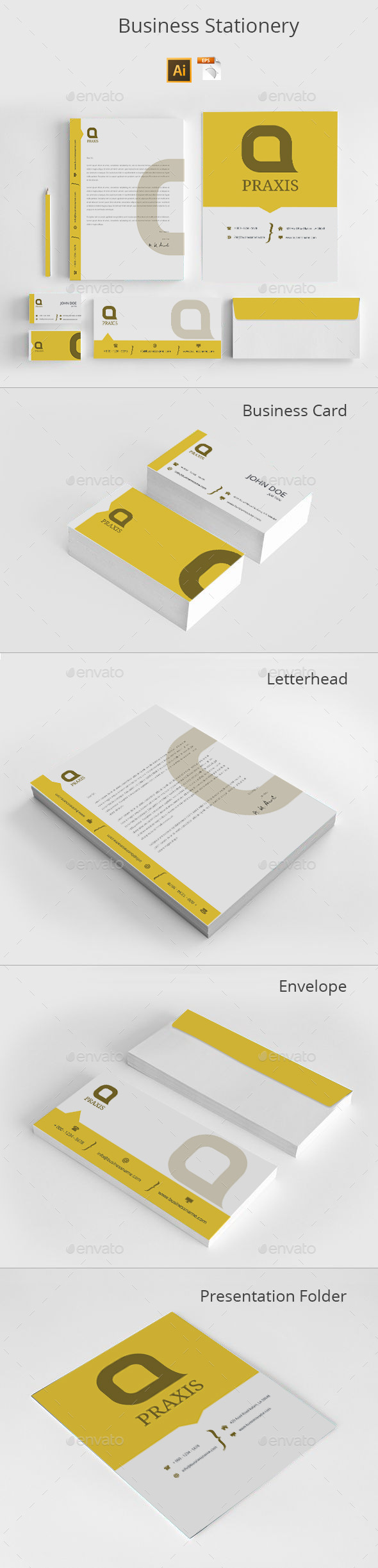 GraphicRiver Business Stationery 8817820