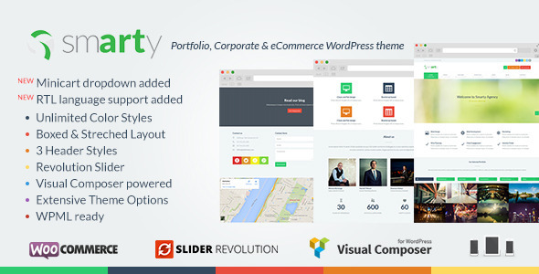 Ecommerce Templates - Smarty - <p>Portfolio and Shop WordPress Theme </p>