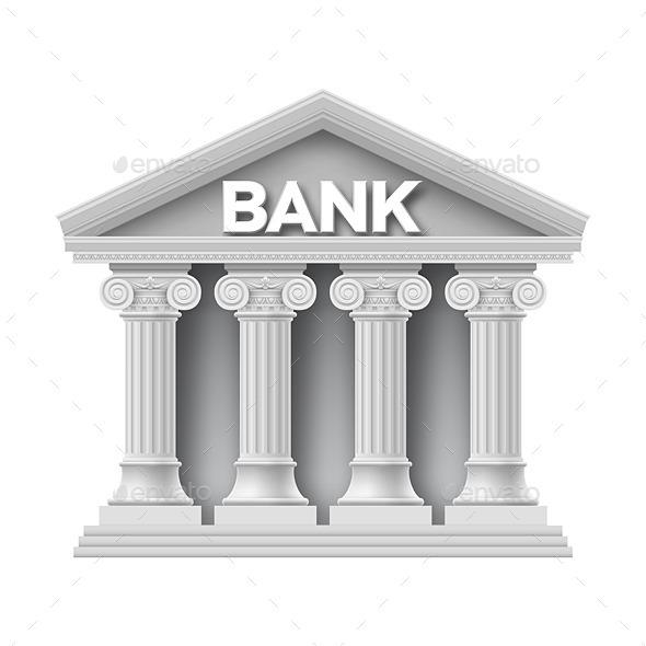 Cartoon Bank Building ...