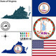 Map of State Virginia, USA - GraphicRiver Item for Sale