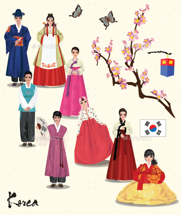GraphicRiver Korean Hanbok 8776846