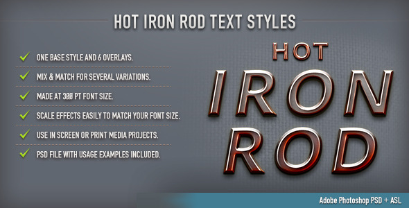 GraphicRiver Hot Iron Rod Text Styles 8817944