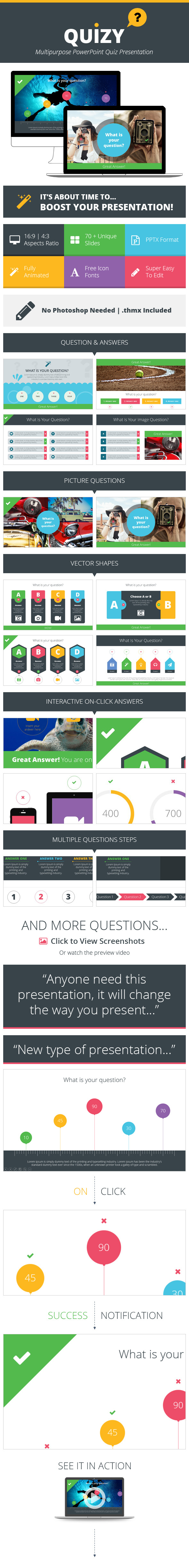 Quizy Multipurpose PowerPoint Quiz Presentation