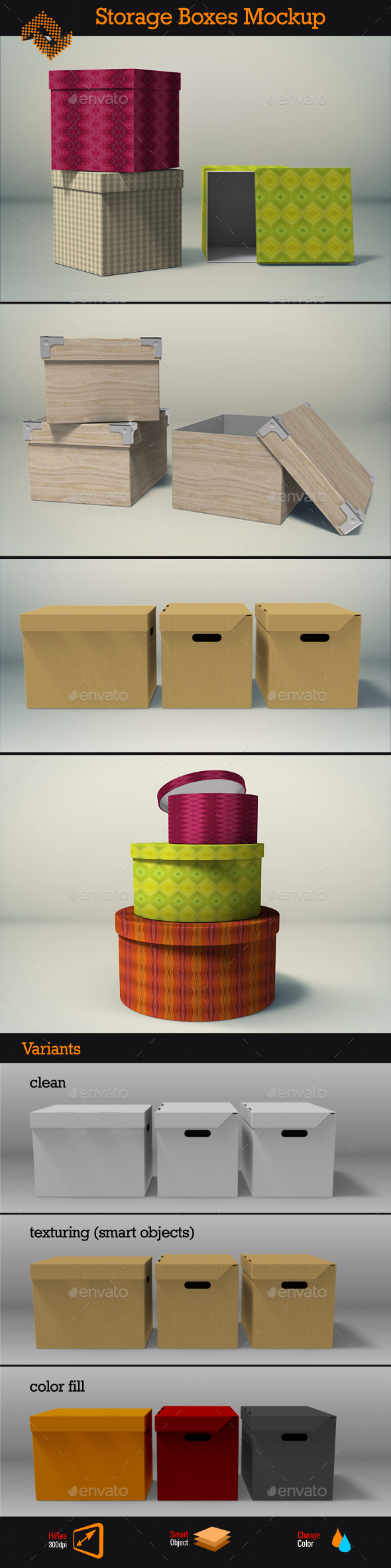 GraphicRiver Storage Boxes Mockup 8818057