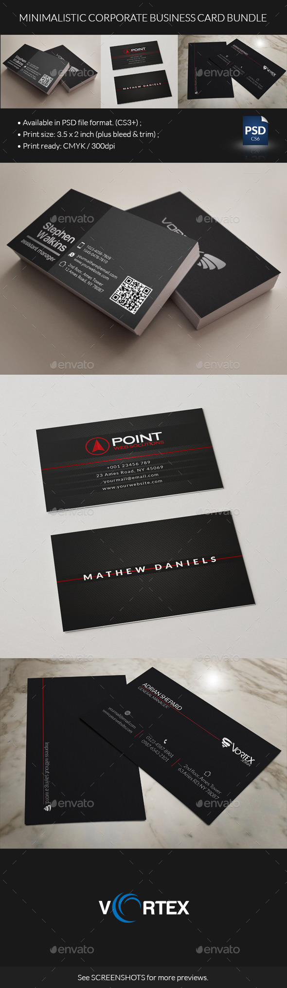 GraphicRiver Minimalistic Corporate Business Card Bundle 8817946