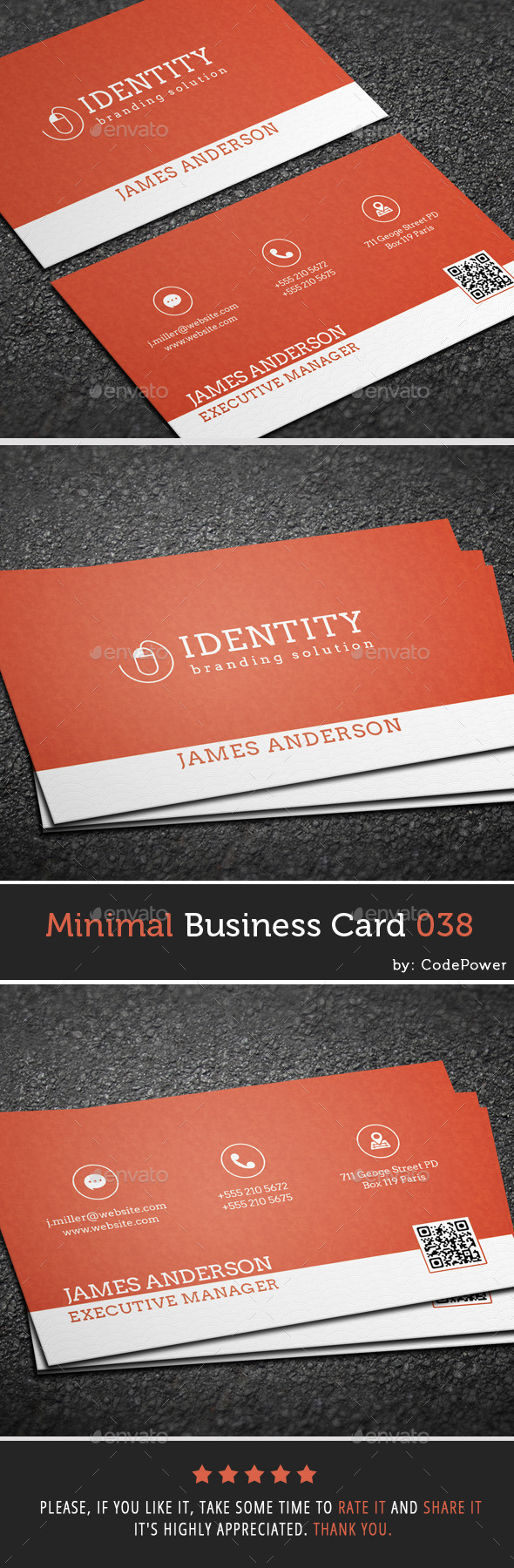 GraphicRiver Minimal Business Card 038 8818102