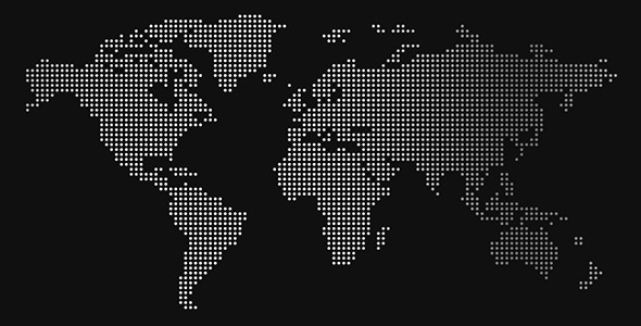 World of Dots Dotted World Map Animations