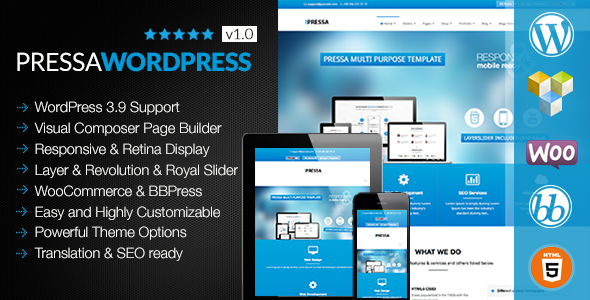 PRESSA - Multi Purpose Wordpress Theme - Business Corporate
