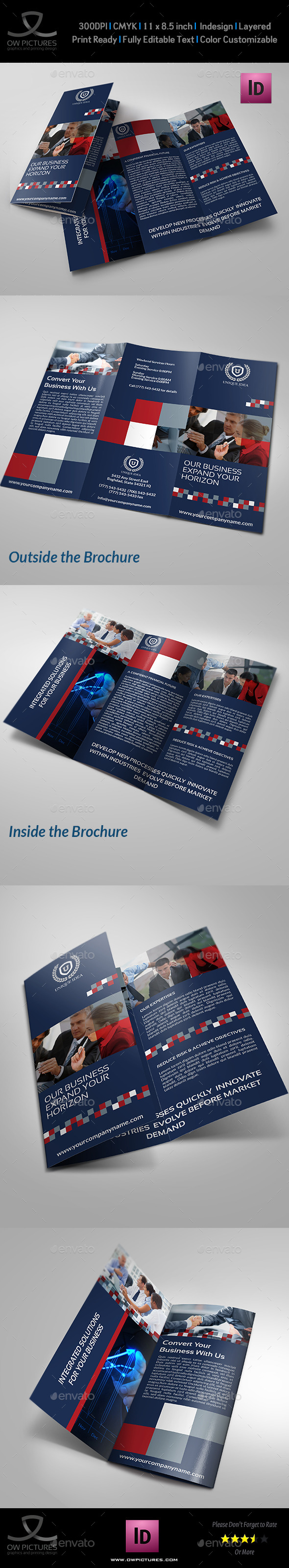 GraphicRiver Company Brochure Tri-Fold Brochure Vol.12 8818336