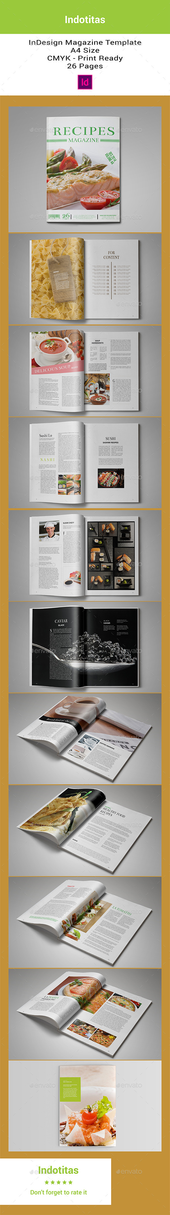 GraphicRiver Food Recipes Magazine Template 8818337