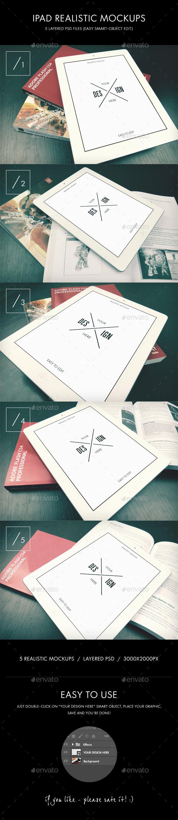 GraphicRiver iPad Realistic Mockups 8818350