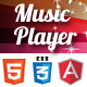 HTML5 AngularJS Music Player - CodeCanyon Item for Sale