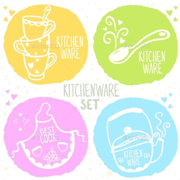 GraphicRiver Kitchenware Set 8818402