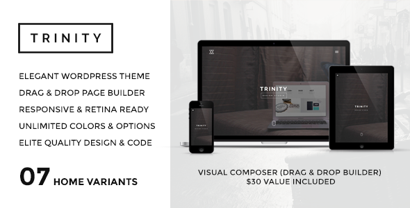 - TRINITY – WordPress Responsive One Page Parallax
