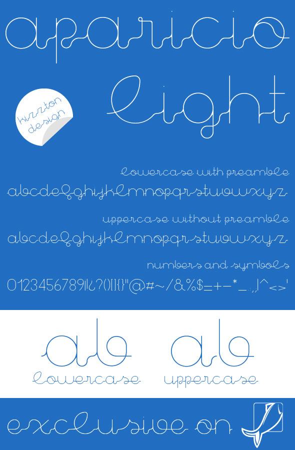 Aparicio Light Premium Font