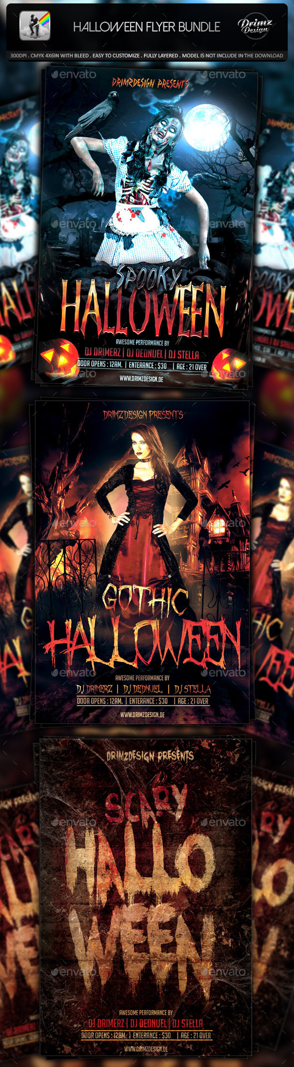 GraphicRiver Halloween Flyer Bundle 8818442