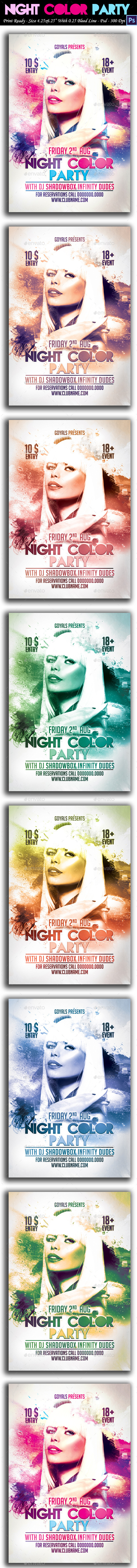 GraphicRiver Night Color Party 8796506