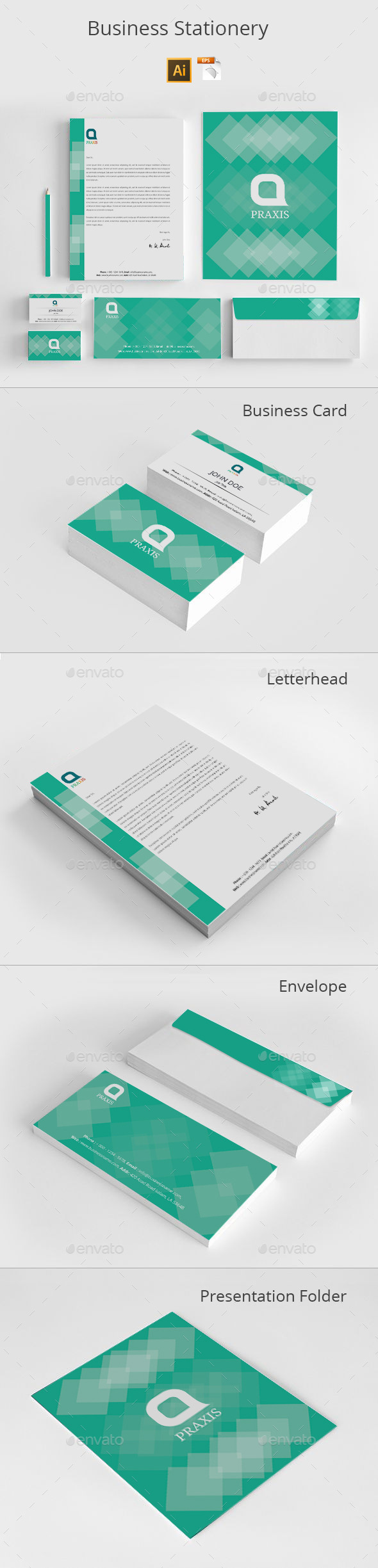 GraphicRiver Business Stationery 8818583