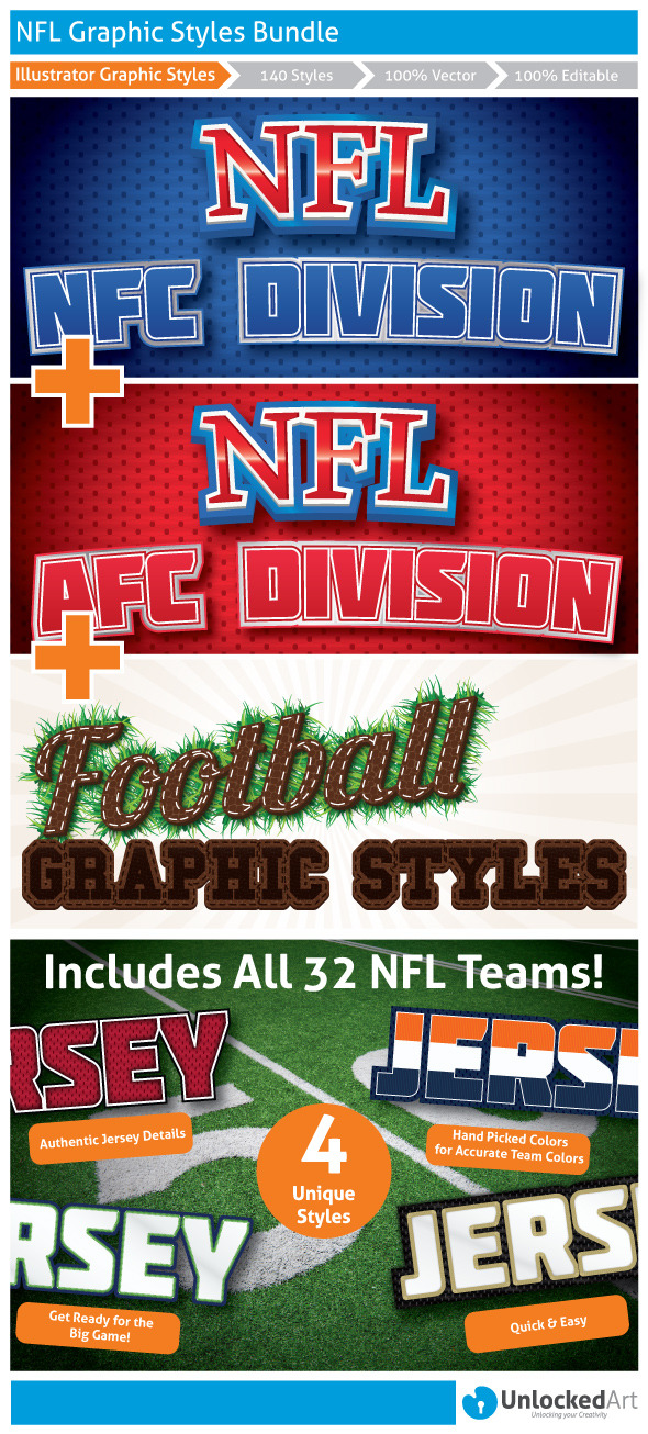NFL Graphic Styles Bundle