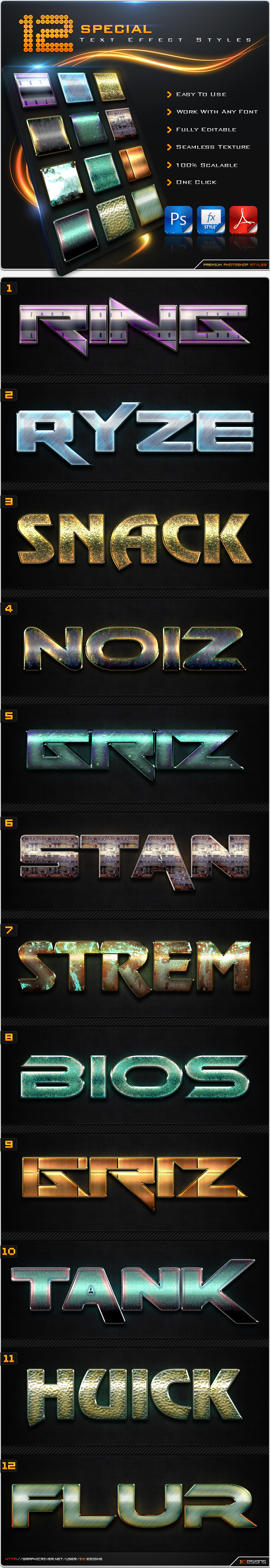 12 Special Text Effect Styles