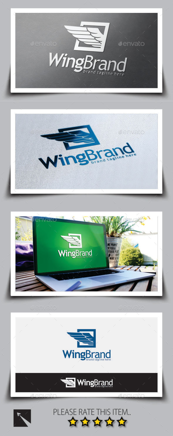GraphicRiver Wing Brand Logo Template 8818753