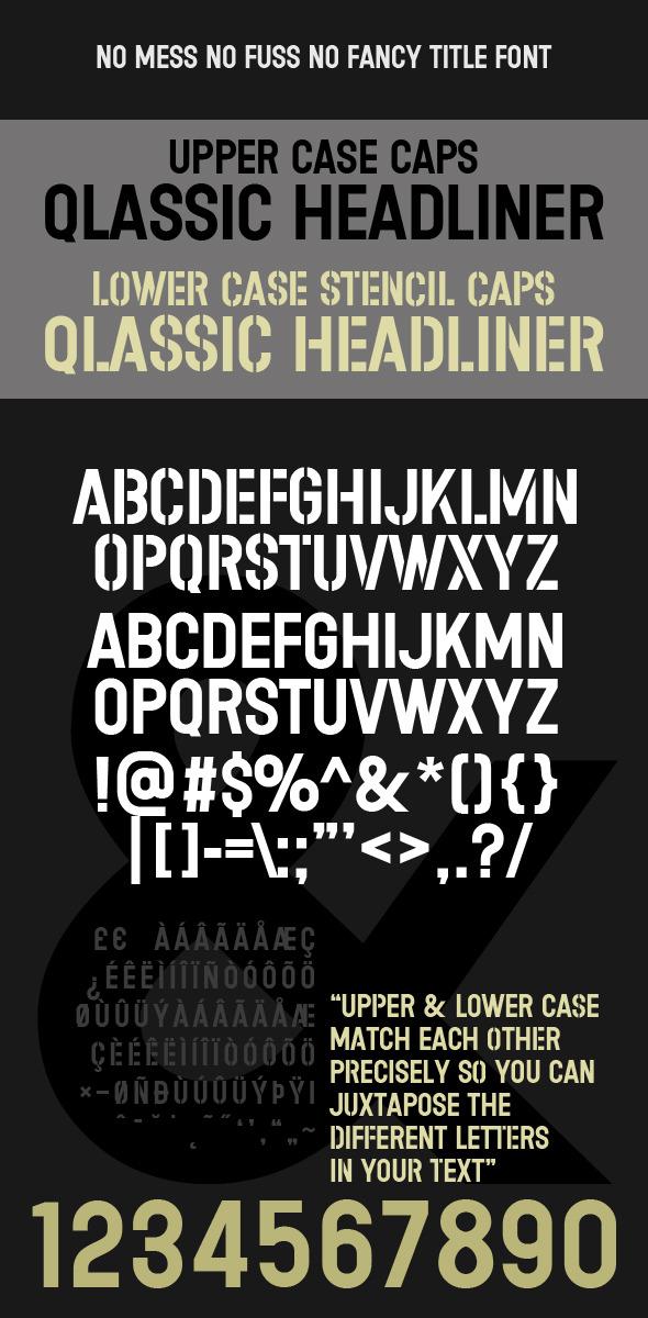 Stencil & Headline CAPS Classic Title Type