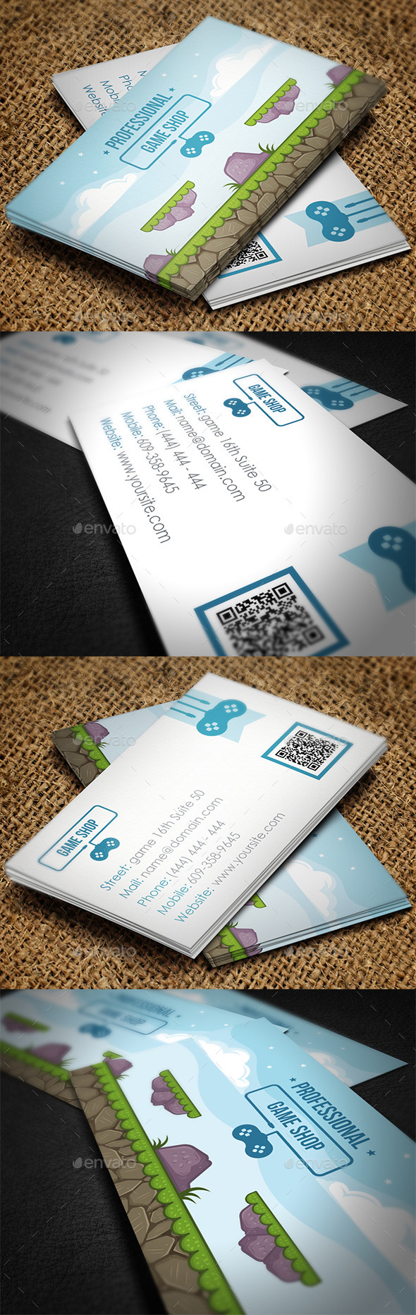 GraphicRiver Gaming Business Card 8818760