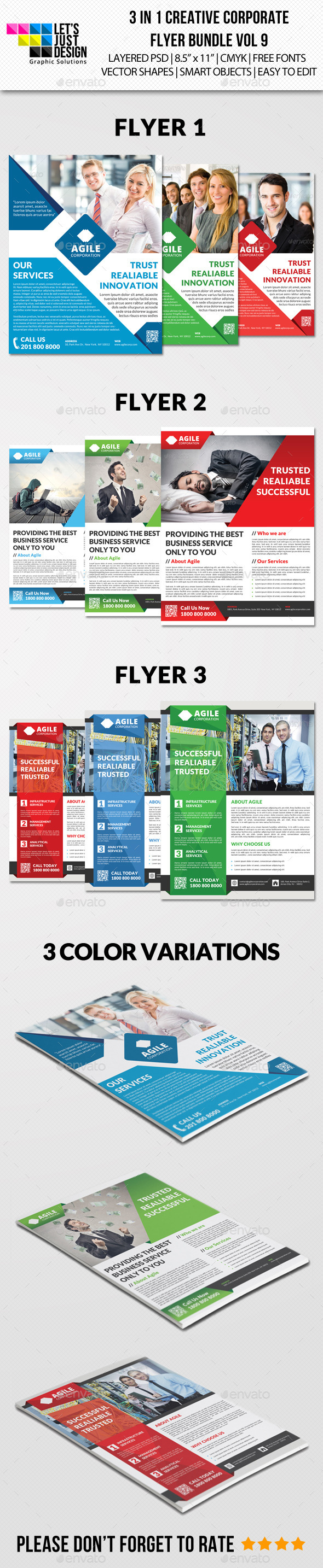 GraphicRiver Creative Corporate Flyer Pack Vol 9 8818772