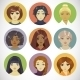 Set of Circle Female Icons - GraphicRiver Item for Sale